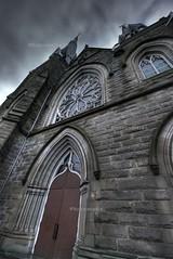church (Thomas Milne) Tags: winter vancouver buildings grey experiment hdr watermarked photomatix tonemap exposureblend