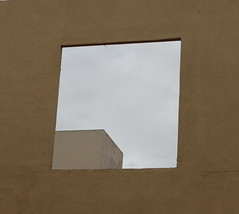 Square window on a big wall - by aurelio.asiain