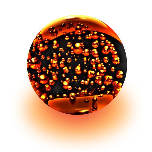013107 orange glass ball
