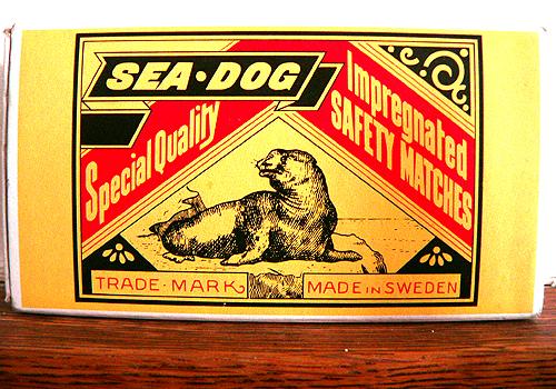 sea-dog matches, impregnated