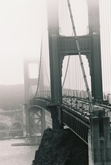jun.05, 710219, 5A (otherdreams) Tags: sanfrancisco california ca blackandwhite bw fog goldengate pentaxk1000 marincounty sanfranciscobay thegoldengatebridge