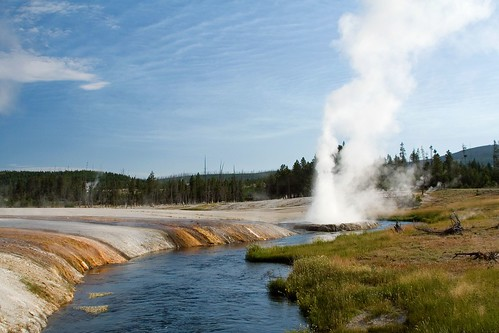 Iron Creek and Cliff Geyser