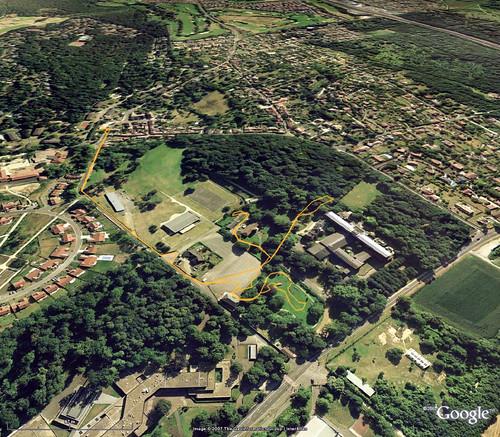 balade Etiolles - Google Earth avec trajet