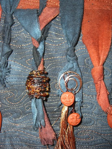Detail of bead and tassel