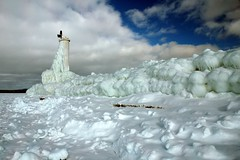 frozen breakwater (snapstill studio) Tags: winter snow cold ice lakemichigan beacon breakwater petoskey littletraversebay martinmcreynolds