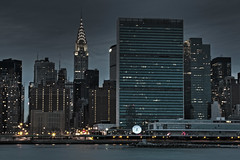 Turtle Bay (broddi) Tags: nyc building skyline bay turtle manhattan united headquarters un chrysler hdr nations challengeyouwinner aia150