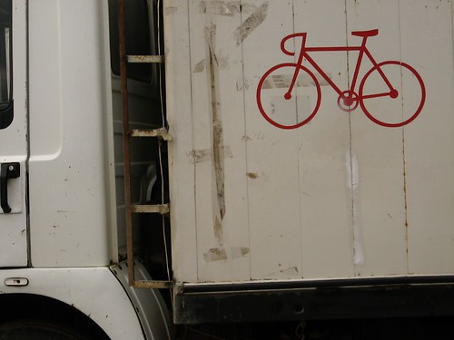 Bike motif on truck in Anadolu Feneri, Bosphorous Straight, Turkey
