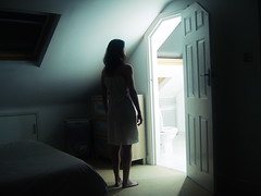alien light (emanuela franchini) Tags: light woman selfportrait me girl night self dark bathroom twilight bedroom darkness fear alien conceptual et bagno notte luce crewdson paura oscurita allrightsreserved jpeggy emanuelafranchini emanuelafranchiniphotography