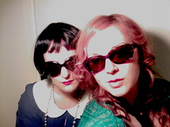 The band (Basto) Tags: sunglasses duo band wig photosession sexyswedishbabe basto thefloorlamp rockabillygal
