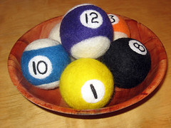 needle felted billiards project 6.0