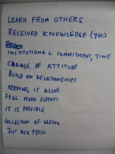 From a Just Three Word exercise on knowledge sharing