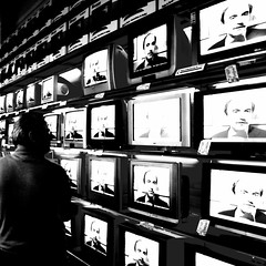 Private eYe (donmimi83 ( away )) Tags: blackandwhite bw white man black men eye face television private blackwhite tv eyes topf50 noir telly faces image repetition bianco blanc nero bianconero biancoenero 2007 privateeye 25faves abigfave p1f1 donmimi83
