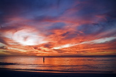 Sunset Fishing (|neurosis|) Tags: ocean sunset beach nature canon fisherman dusk scenic australia cottesloe westernaustralia leighton