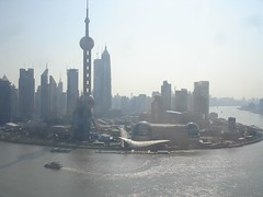 Pudong view from breakfast.