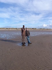 Me & the Iron Man (Welsh Red Snapper) Tags: liverpool crosby antonygormley anotherplace