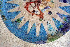Mosaic on the ceiling