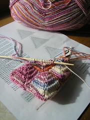 Heart sachet in progress