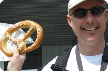 And here's the giant pretzel!