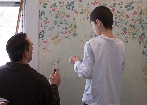 Discussing wall paper stripping technique