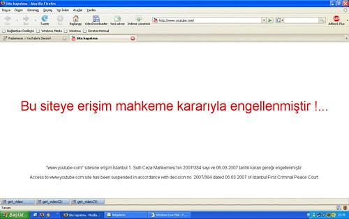 在土耳其要看 YouTube 會出現的畫面