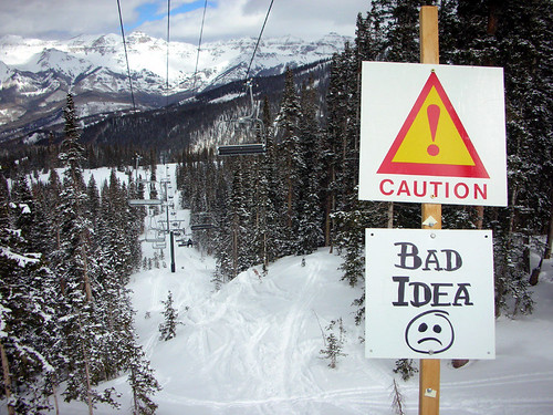 Bad Idea sign