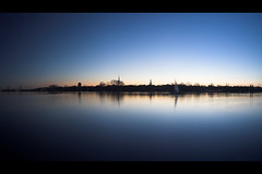 Blue Hour (killerkarpfen05) Tags: panorama hamburg blauestunde auenalster