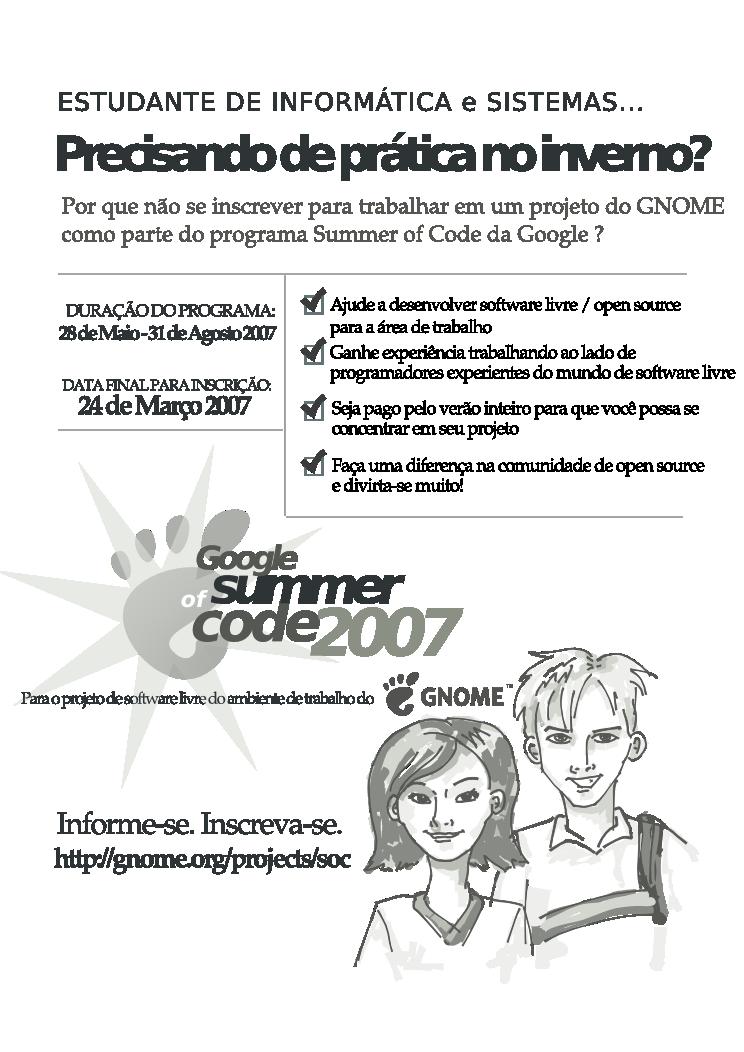 Summer of Code 2007: Brazilian Poster