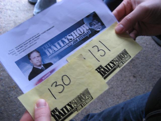 Tickets to Jon Stewart by Cooper: Photographer Cat