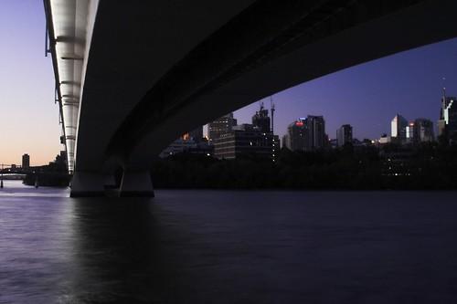 Brisbane and Bridge at Dusk