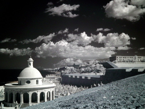 The Old San Juan Cementery in Infrared