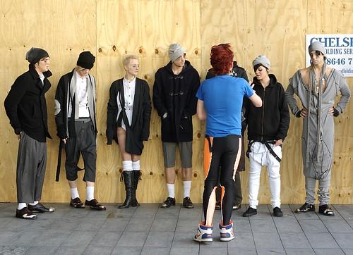 Fashion show prep