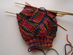 Step Above Sock in progress