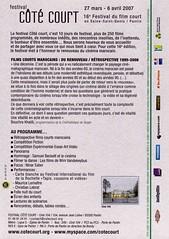 16e Coté court affiche verso