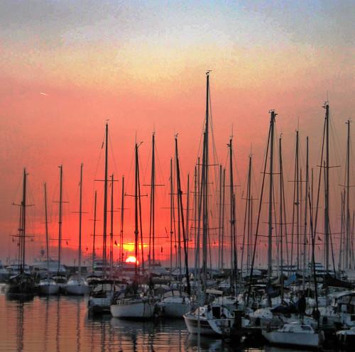 Sunset Kalamis Marina