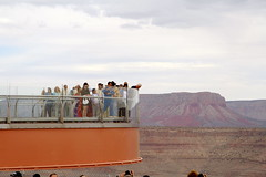 Grand Canyon Skywalk - Peering Over (Viator.com) Tags: grandcanyonskywalk