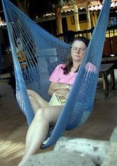 Pat Lamont sleeping