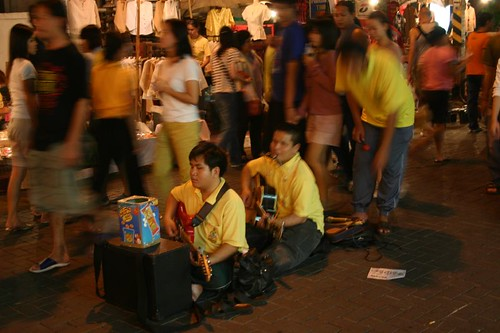 Blind musicians. The Sunday night market in Chiang Mai