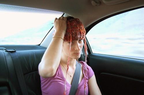 Elaine Knits a Hat.