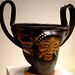 Ritual Cup with Masks of Dionysos Greek made in Athens about 400 BCE Terracotta (1)