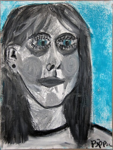 Self-Portrait (in Blue and Gray)
