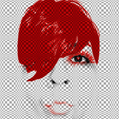 lily (SwEeTcHy) Tags: portrait eye me photoshop ojo rojo kiss heart retrato explore popart beso corazon