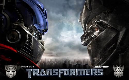 Poster oficial de Transformers la pelicula
