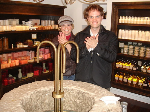 Washing our hands at Sabon