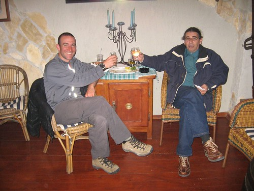 A drink with Aleksandar Popovic, president of Roberta Bicycle Club, Rijeka, Croatia