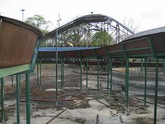Bell's Amusement Park - Tulsa, OK (Lost Tulsa) Tags: park oklahoma bells amusement fairgrounds parking lot roller tulsa coaster demolished deconstruction zingo losttulsa