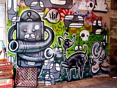 Caledonian Lane (geoftheref) Tags: street travel streetart color colour slr art graffiti interestingness interesting alley nikon paint flickr grafitti bright tag australia melbourne can victoria spray alleyway lane graffitti rubbish spraypaint australien dslr tagging graphitti pintada spraycan caledonian  austrlia grafittis australi   d80  laustralie   geoftheref laustralia