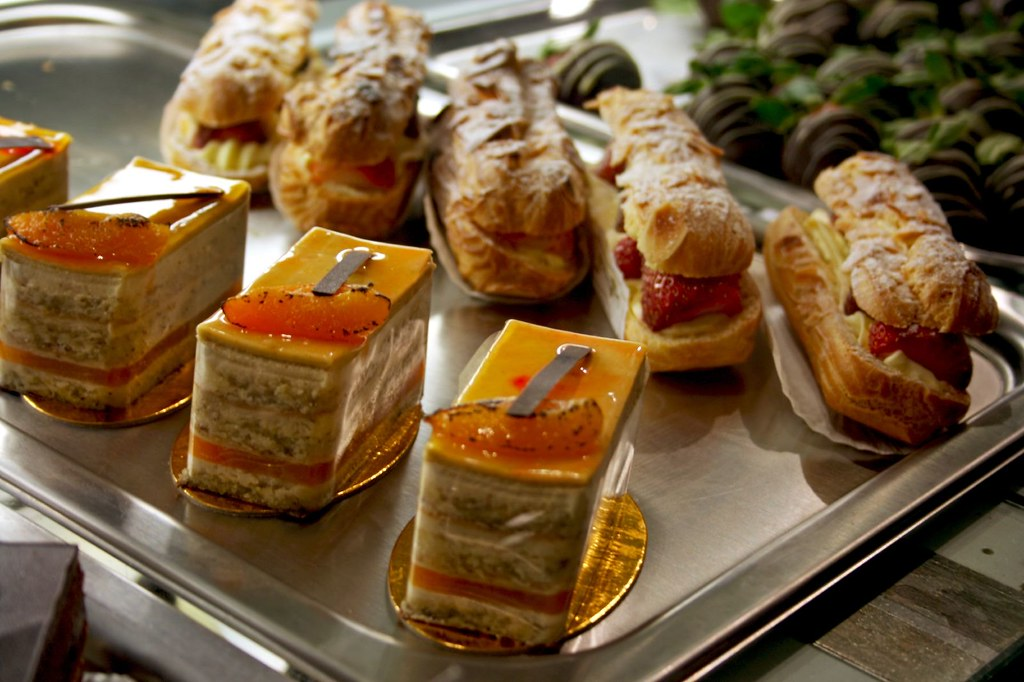 Eclairs and Orange Passionfruit Cake
