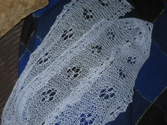 Cat's Paw Lace Scarf - Complete!