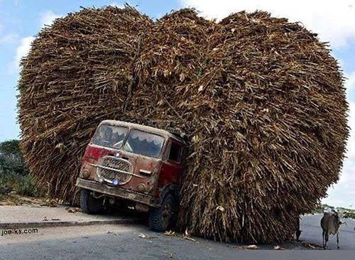 camión cargado, heavy load