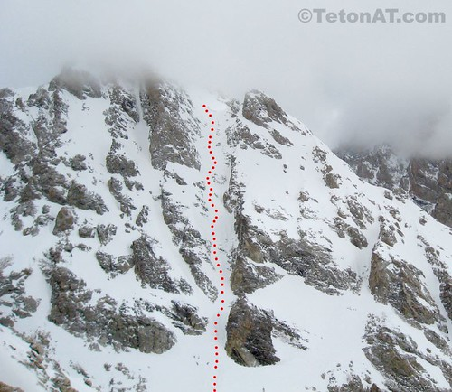 Ellingwood Couloir on the Middle Teton